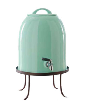 Bell-Shaped Drink Dispenser and Stand