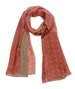 Echo Pebbled Silk and Jersey Scarf