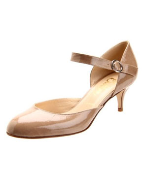 Butter patent-leather heels