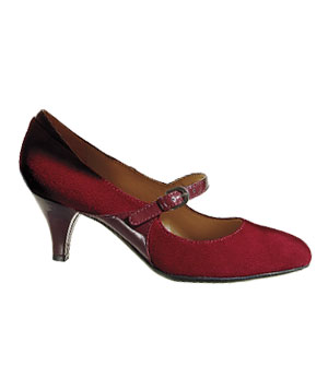 Naturalizer suede-and–patent-leather heels