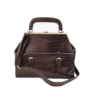 Urban Outfitters Kimchi Blue Croc-Embossed Lady bag