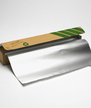 Aluminum foil package with foil
