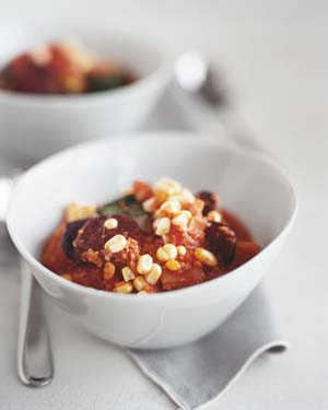 Spicy Grits With Chorizo, Leeks, and Corn