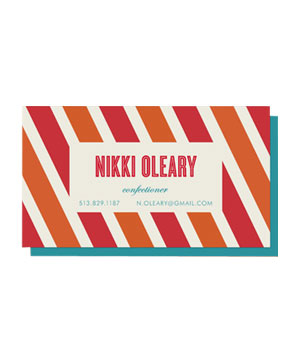 Minted Candy Stripe Business Cards