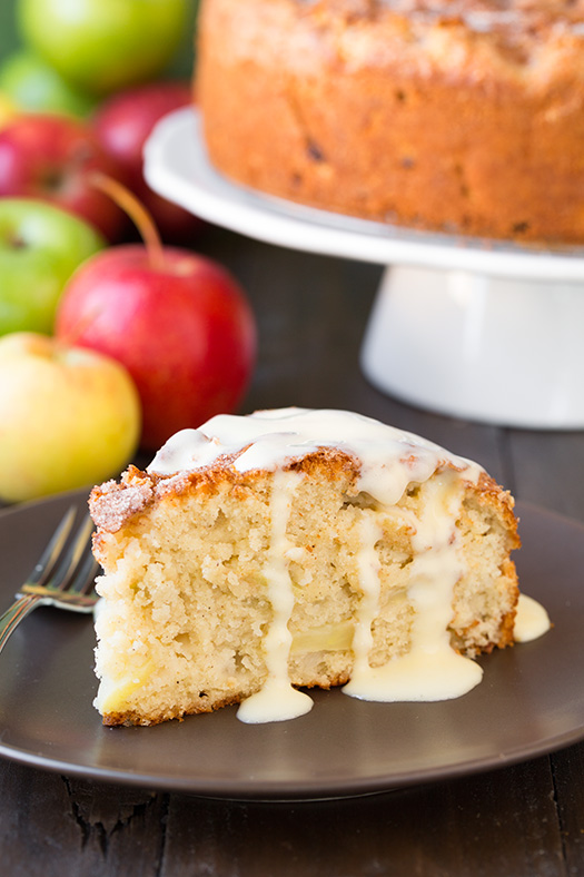 Traditional Irish Apple Cake With Custard Sauce