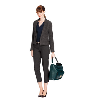 Cropped pants and blazer