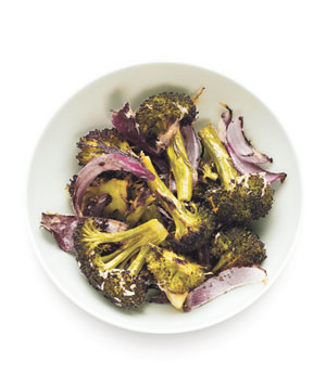 Parmesan Roasted Broccoli and Onions