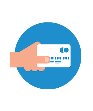 illustraion of a hand holding a bank card