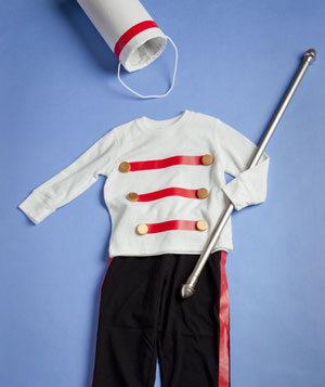 Homemade marching band costume
