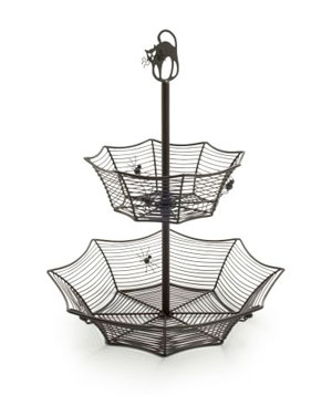 Two-Tiered Spider Web Candy Bowl