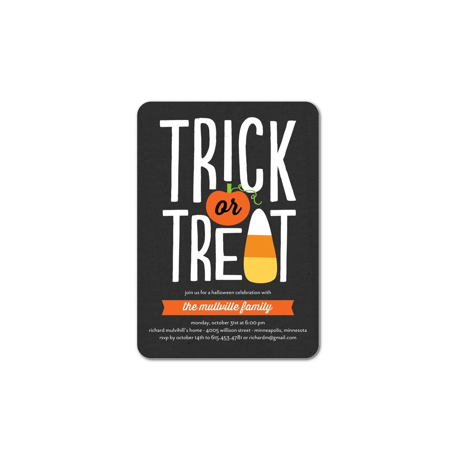 Tricky Sweet Trick or Treat Invitations