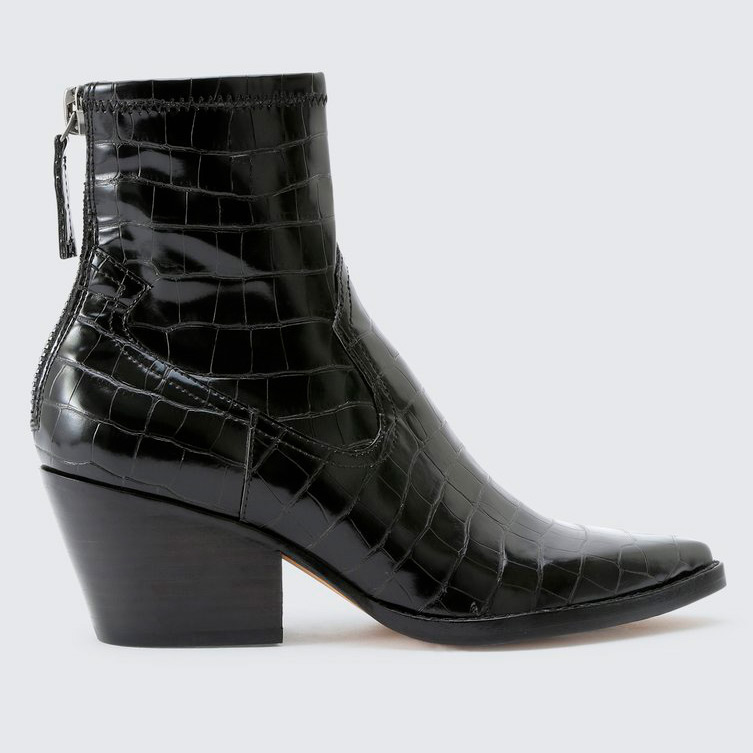 dolce vita black ankle booties