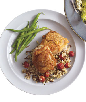 Chicken With Wild Rice and Grapes