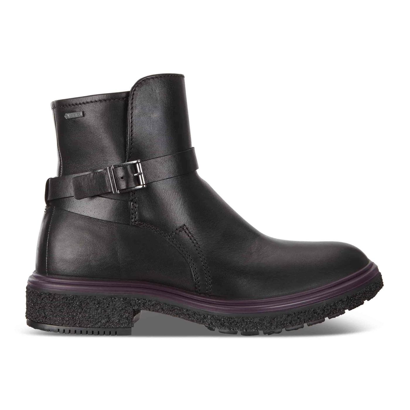 ecco black leather ankle boot