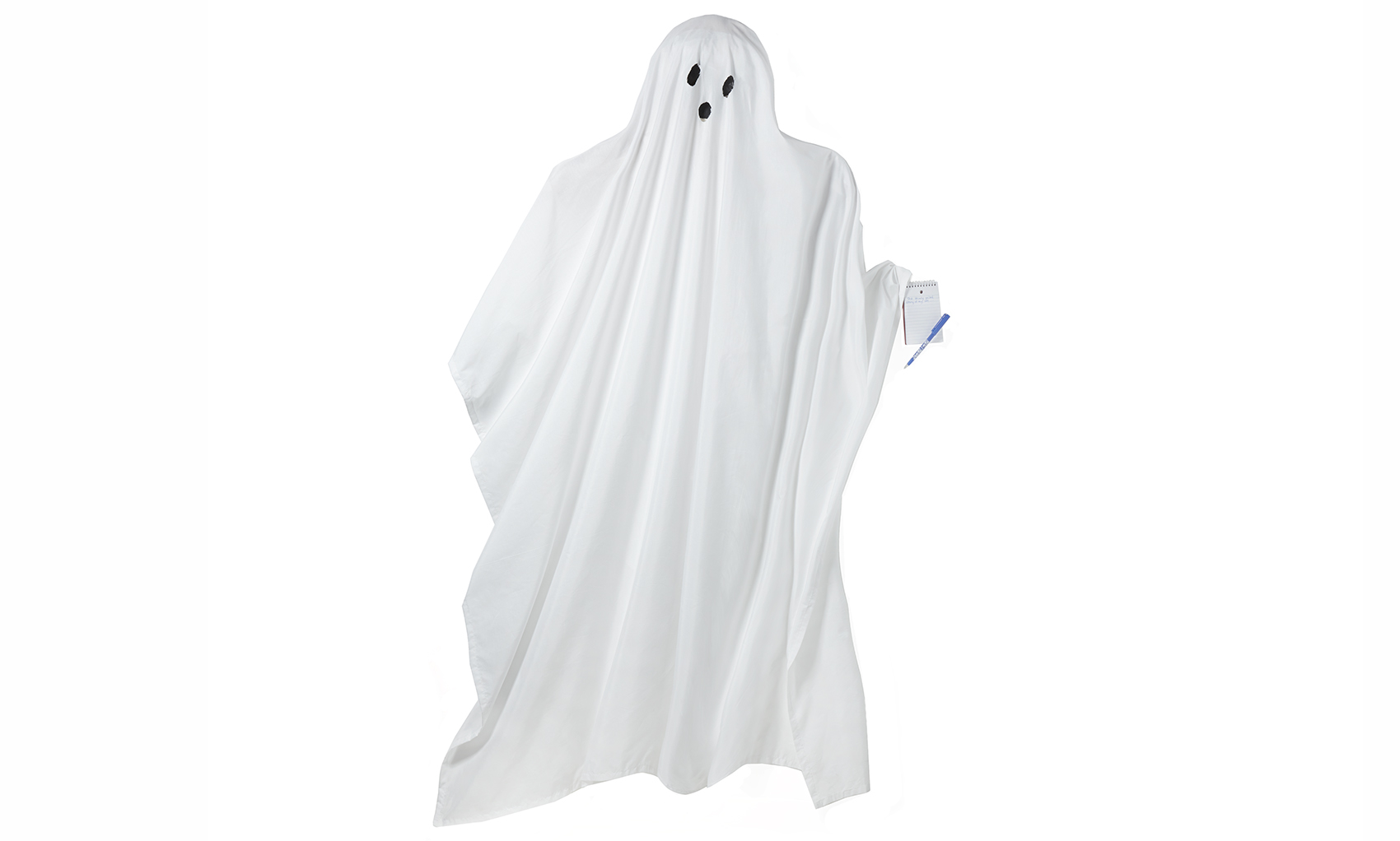 Easy last-minute Halloween costumes, ideas - Ghostwriter costume