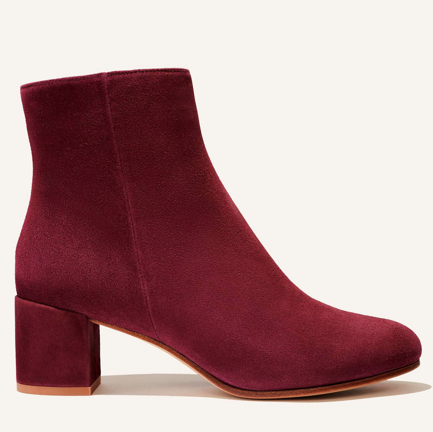 margaux the boot in mulberry suede