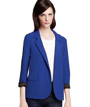 Aqua Bright Girlfriend Blazer