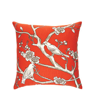 Vintage Blossom cotton-and-linen pillow with feather-and-down fill