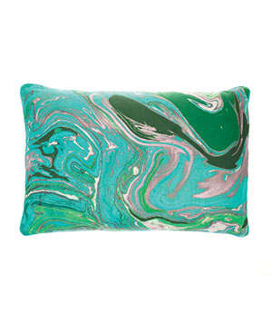 Earth Print cotton pillow with feather-and-down