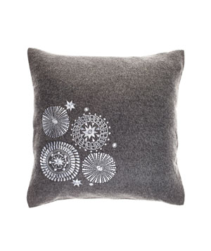 Mod Medallion wool-and-alpaca pillow with feather-and-down fill