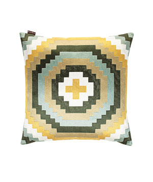 Patagonia embroidered cotton pillow with down fill