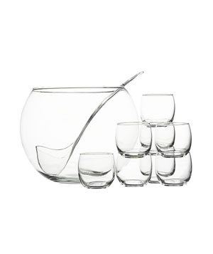 Crate and Barrel 10-Piece Punch Bowl Set
