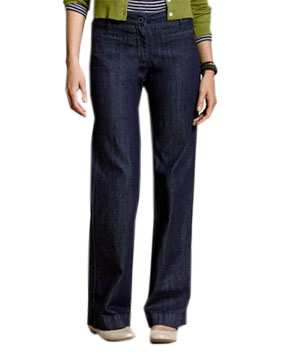 Land's End Polished Denim Trousers