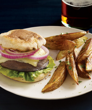 Portobello Mushroom Burgers With Oven Fries