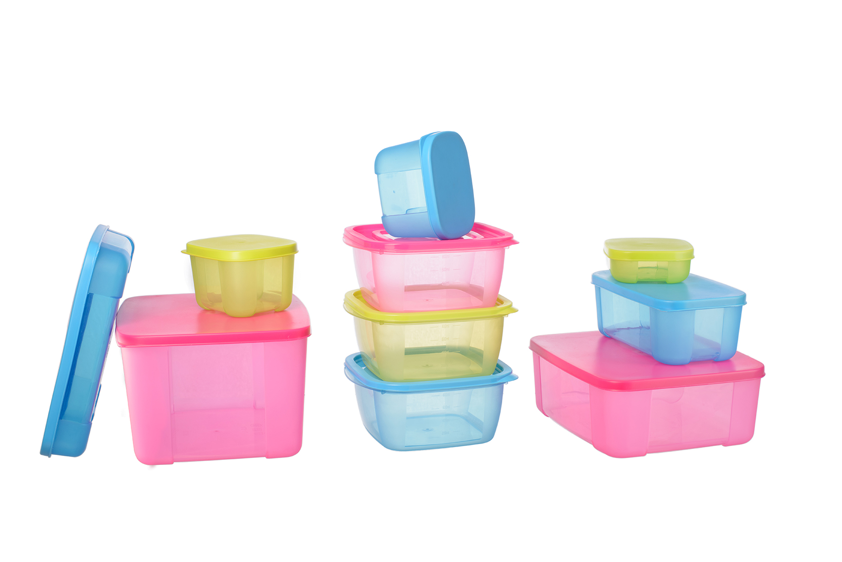 plastic colored containers decluttering solutions