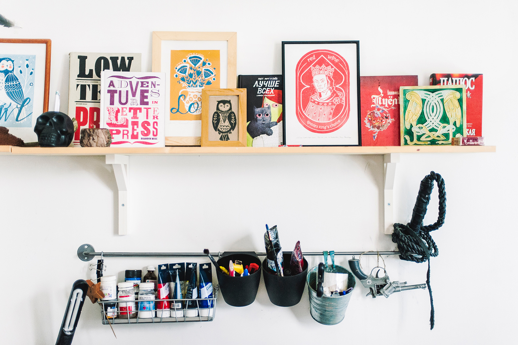 colorful shelves decluttering solutions