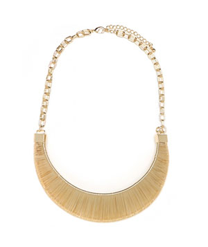 Bauble Bar gold-plated wire necklace