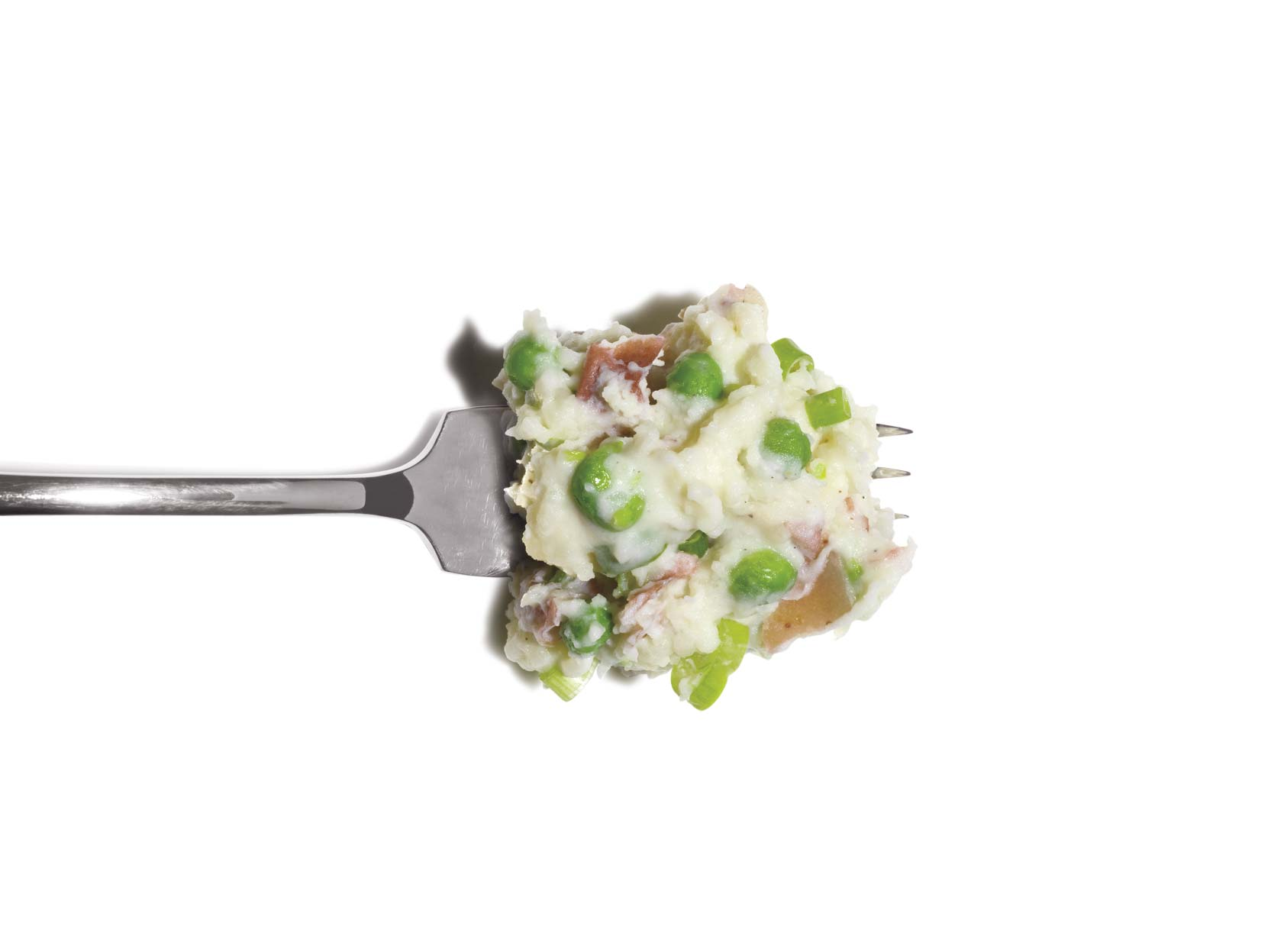 Mashed Potatoes With Peas and Scallions