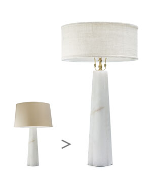 Tapered-base lamps