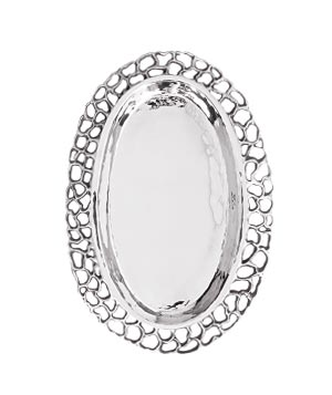 Mariana Oval silver-plated platter