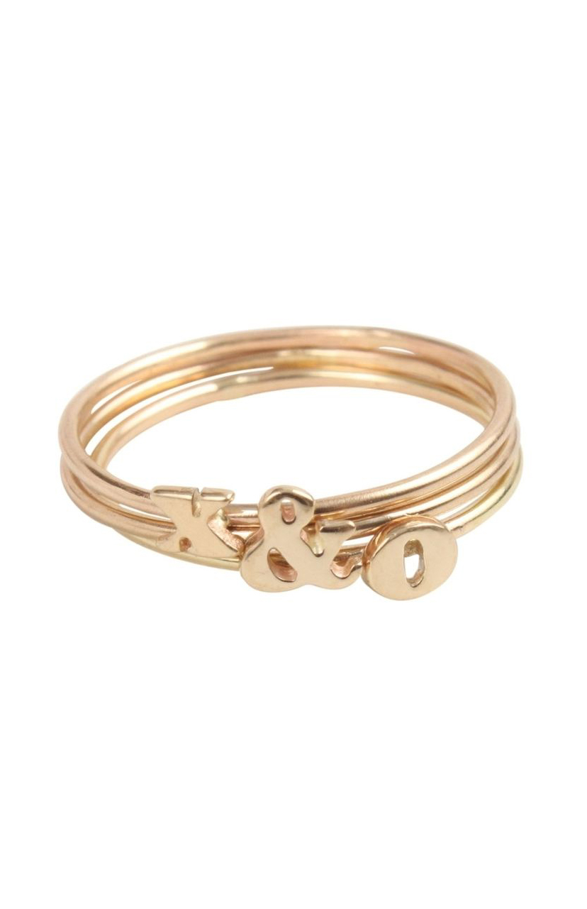 Alphabet Ring, Gold