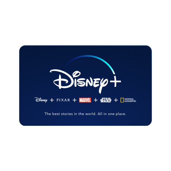 Gifts and Ideas for Teens and Tweens - Disney+ Subscription Card