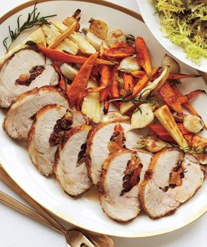 Stuffed Pork Loin With Roasted Root Vegetables