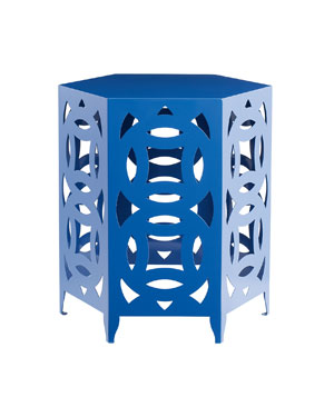 Ginger Blue Powder-Coated–Steel Table