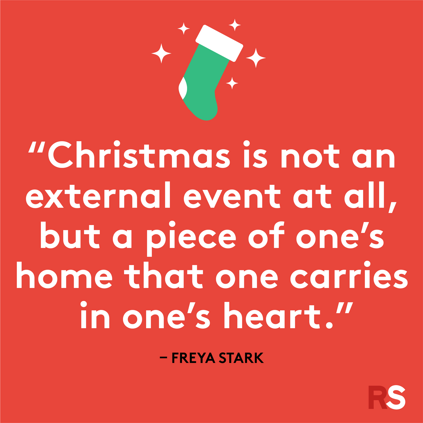Best Christmas quotes - Freya Stark