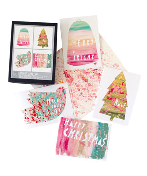 Holiday Paint card set