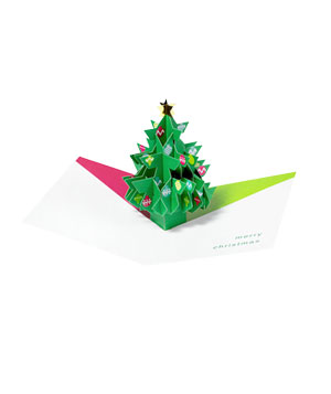 MoMA Pop-Up Tree with Ornaments holiday card