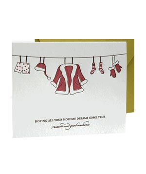 Luxe Paperie Santa Letterpress holiday card