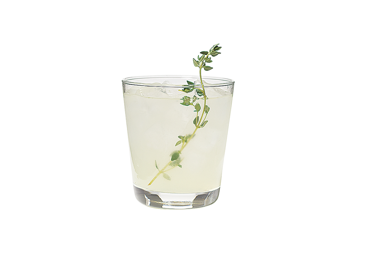 Thyme and Lime Lemonade