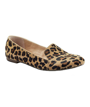 Lands' End Leopard Flats in Calf Hair and Leather
