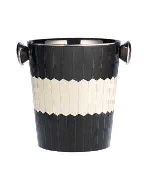 Pier 1 Imports ice bucket of stainless steel and resin
