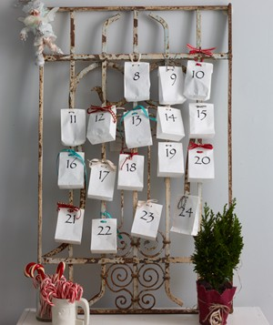 Christmas decoration ideas - Homemade advent calendar