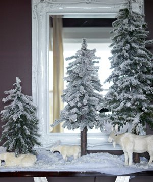 Christmas decoration ideas - Winter scene with moose