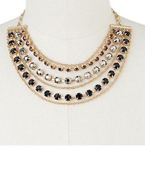 Apt. 9 Gold Tone Simulated Crystal Swag Necklace