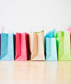 A lot of shopping bags