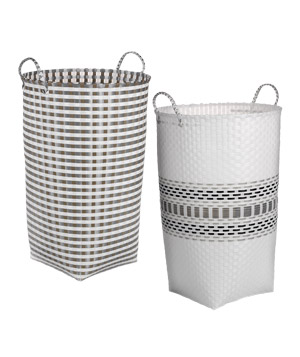 The Container Store Woven Nylon Laundry Hamper